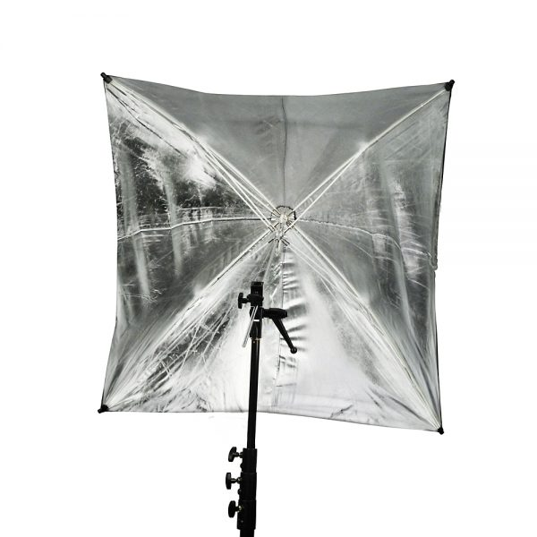 "ADH 45"" Silver Adjustable Umbrella"
