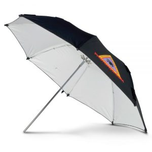 "ADW 30"" White Adjustable Umbrella"