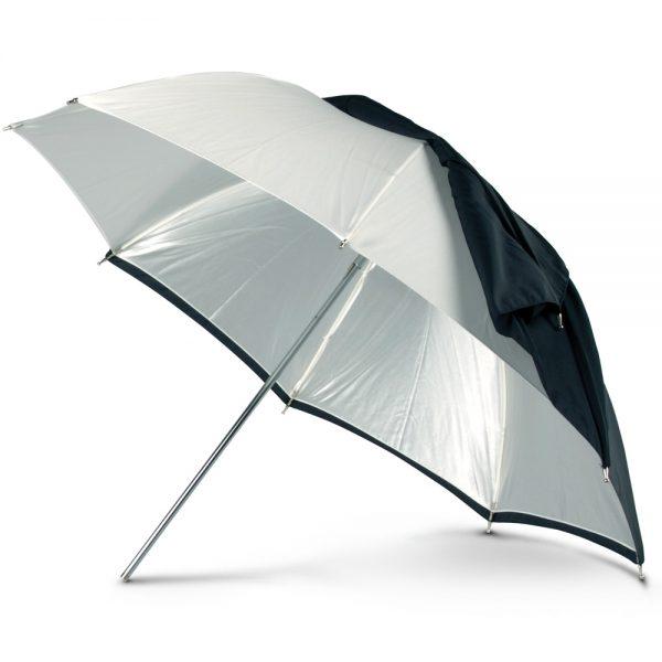 "RUT 45"" White Convertible Umbrella"